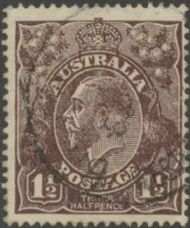 Australia KGV Head SG 51 1½d Black-Brown (AHGU/810)